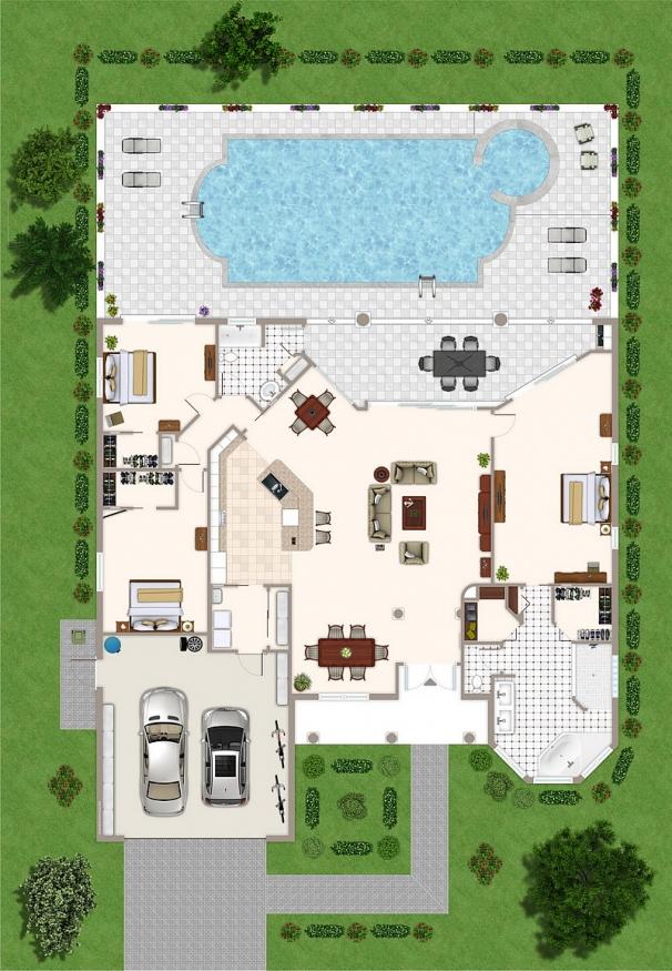 Grundriss Villa Tao