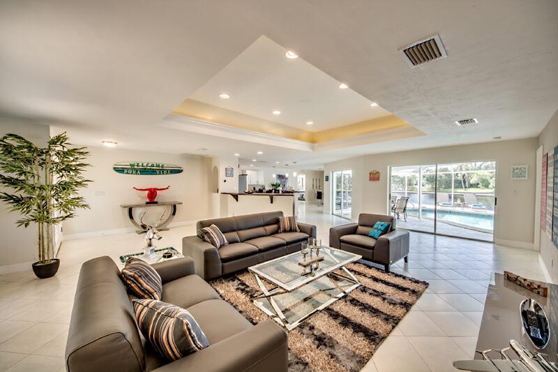 Wohnzimmer Villa Pura Vida in Cape Coral Ferienhaus