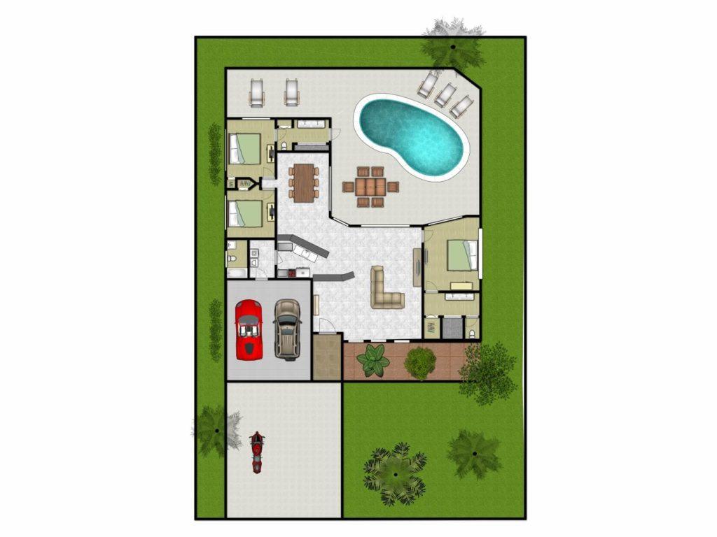Grundriss Villa Pura Vida